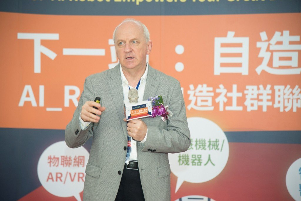 Techshop Global總裁Paul Duggan分享自造經驗。 南科管理...