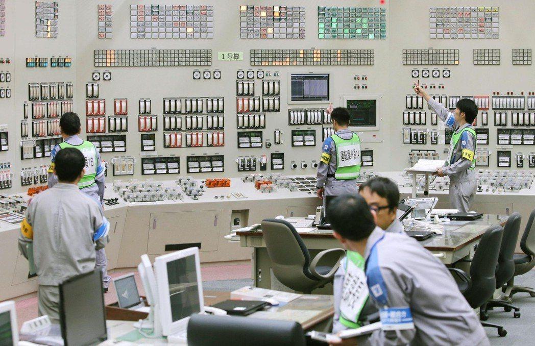 2015年8月,鹿兒島縣川的內核電廠重啟1號反應爐。 圖/美聯社