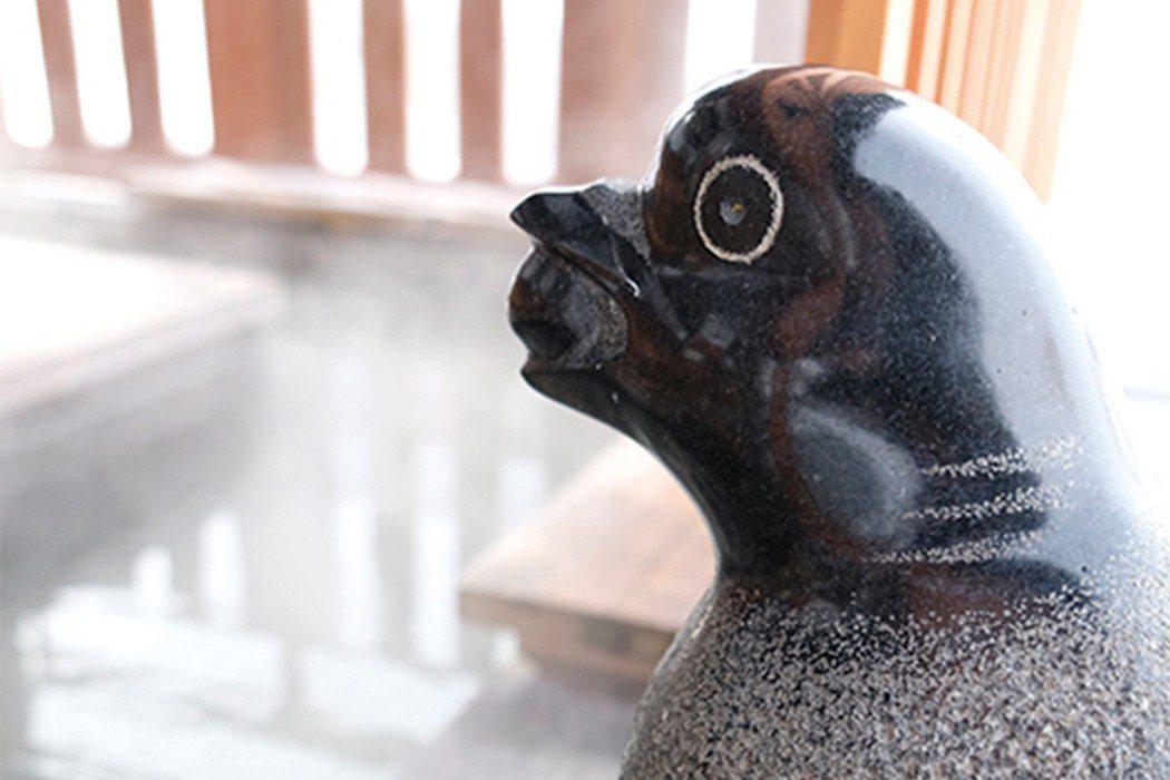 足湯旁一隻鴿子咬著葡萄,就是很「南陽」的象徵。
