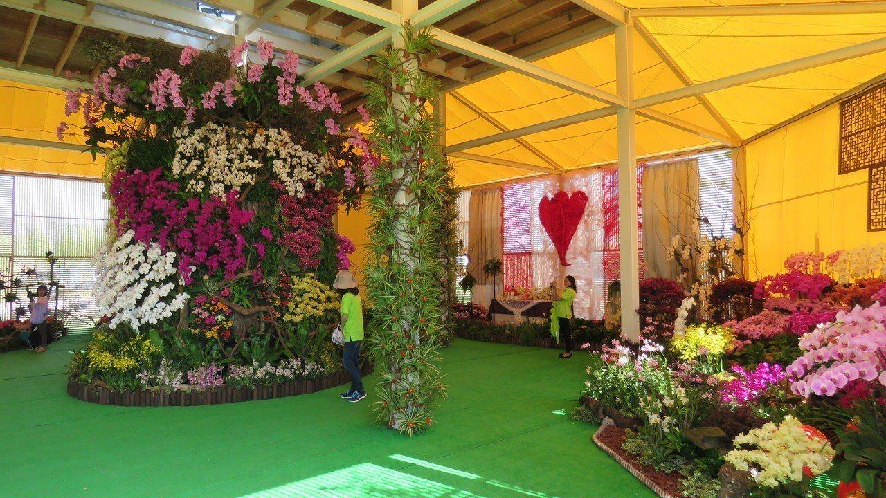 桃園農業博覽會新屋基地展場布置陸績完成,圖為花漾館。記者張弘昌/攝影