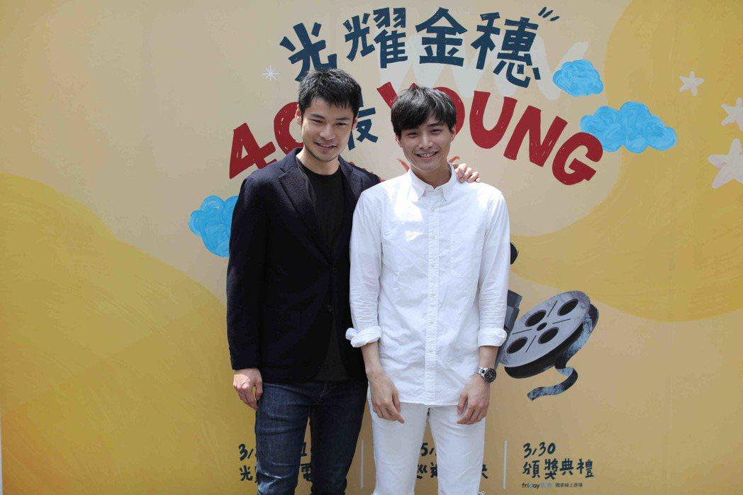 呂金象(左)與陳彥名(右)出席「紅樓夢」片花公佈會。圖/國影中心提供