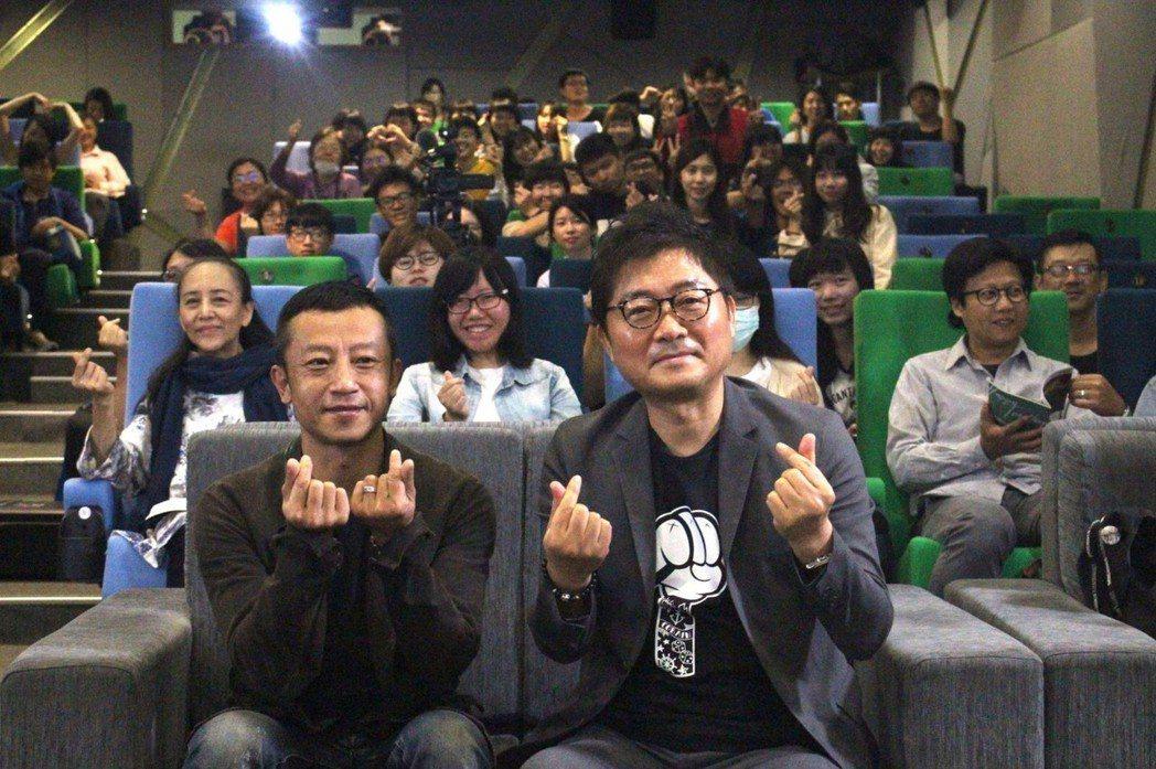 姜帝圭(右)與楊雅喆(左)在高雄電影節對談。圖/高雄電影館提供