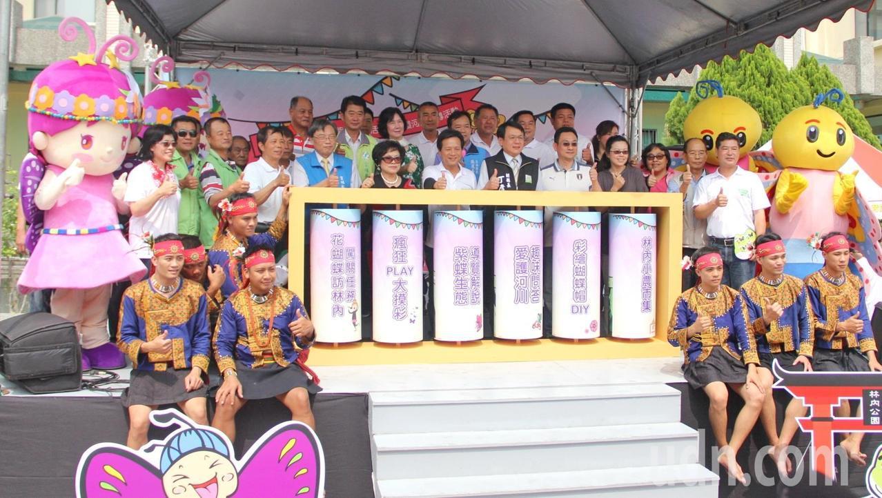 雲林紫斑蝶季盛大登場,林內鄉公所歡迎大家到林內踏青賞蝶。記者蔡維斌/攝影