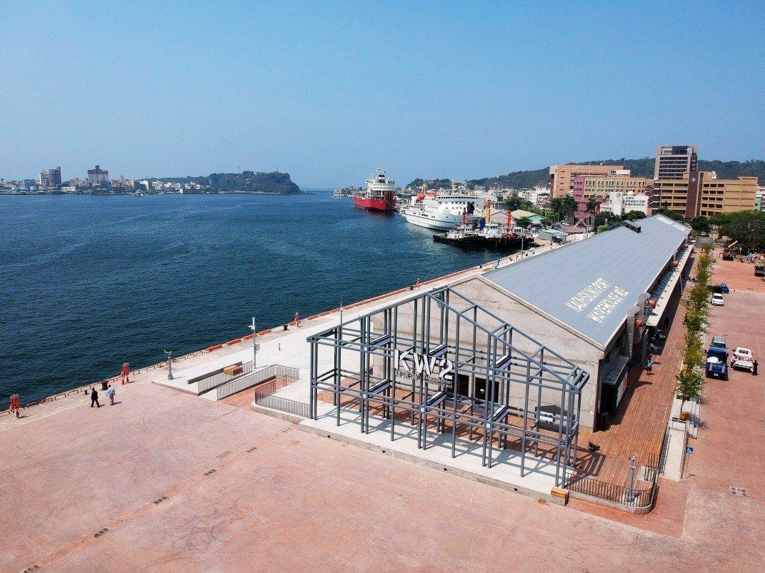 整建後、目前的高雄港「棧貳庫」空拍圖。圖/高雄港區土地開發公司提供
