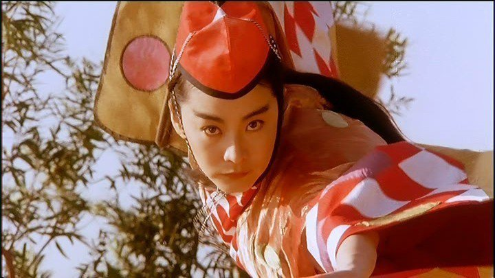 「笑傲江湖2:東方不敗」這個鏡頭是林青霞在殺青酒宴之後被要求補拍的。圖/摘自HK...