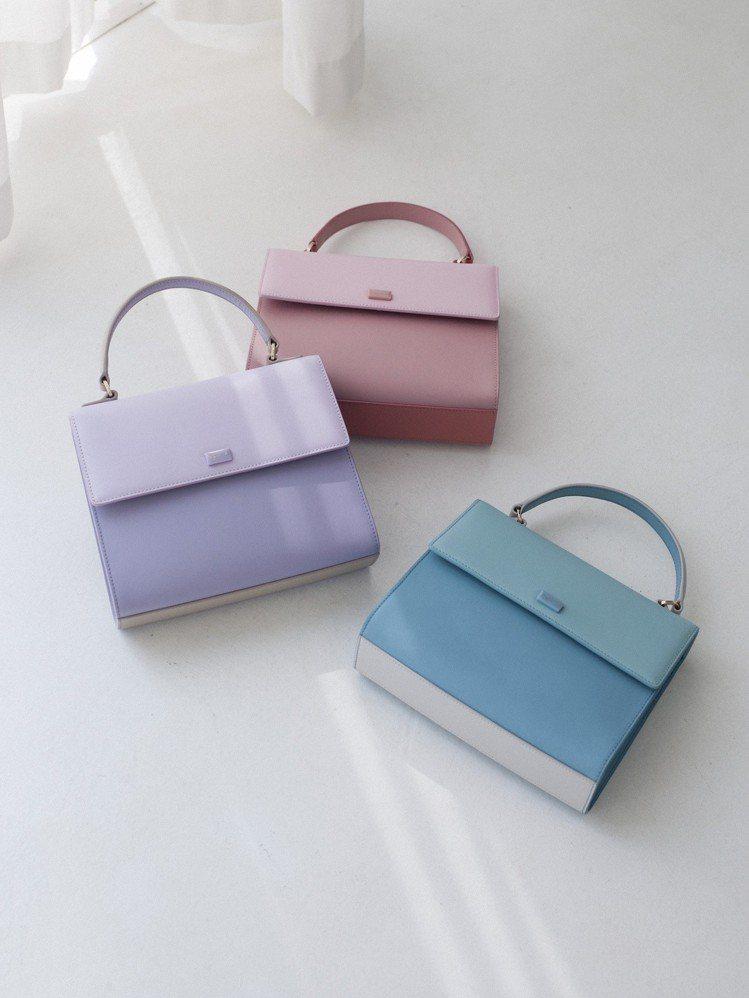 LILI包款推出粉紅、粉紫、粉藍等糖果色選,讓春夏穿搭更添魅力。圖/agnès ...