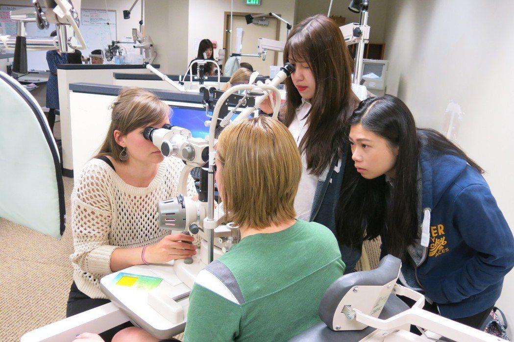 大葉大學視光系學生暑假到美國太平洋大學視光學院學習 大葉大學/提供。