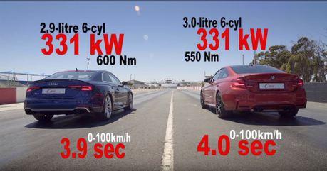 (影片)日耳曼內戰3:四驅的挑戰 Audi RS5 vs.BMW M4