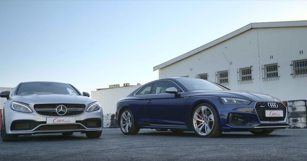 C63S與RS5將進行一場面子之爭。 截自Cars.co.za影片