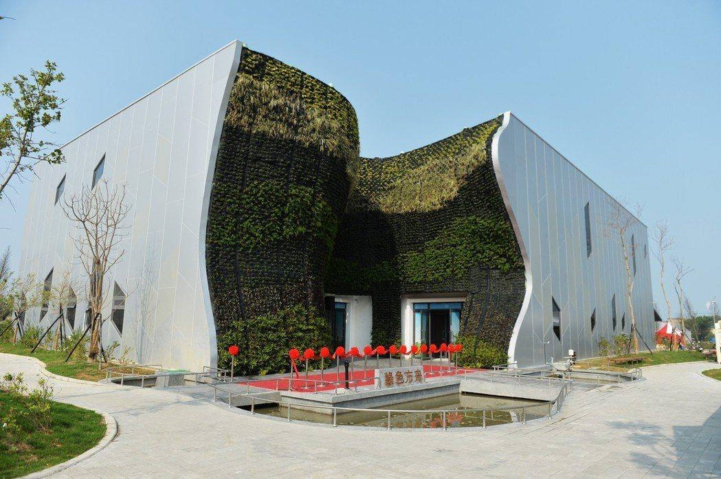 位於桃園農博會的綠色方舟館,推出「水資源循環」、「植物工廠」、「綠色能源」、「綠...