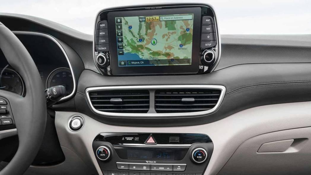 7吋的觸控式螢幕。 摘自Hyundai