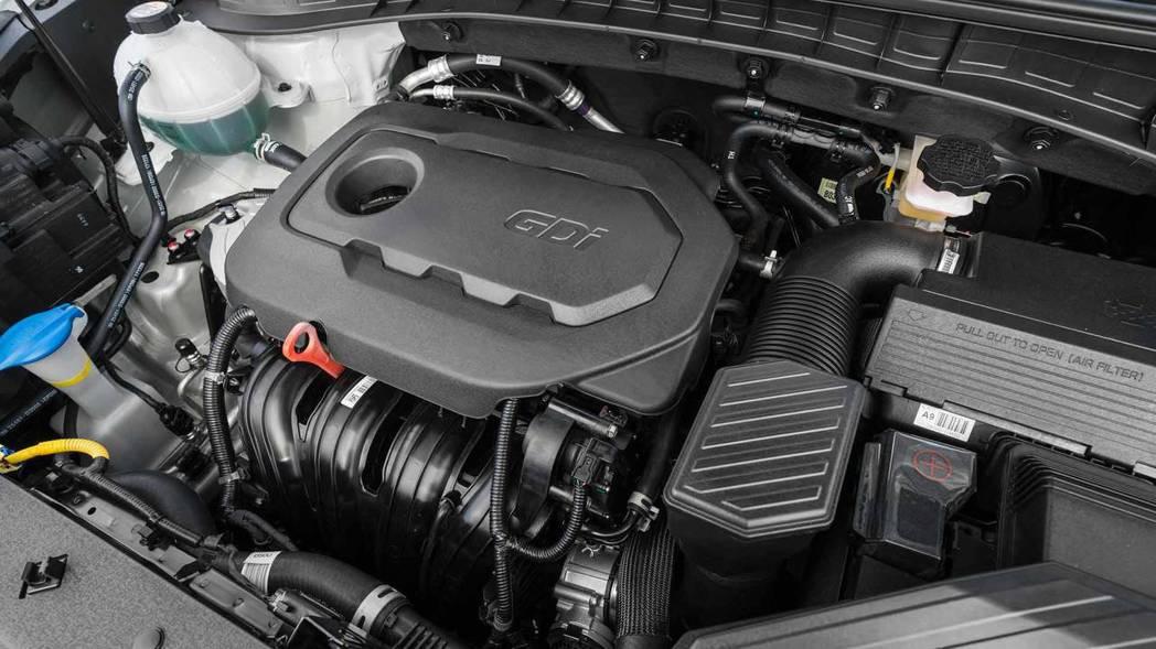 2.4升自然進氣引擎的最大馬力為181hp/24.2kgm。 摘自Hyundai