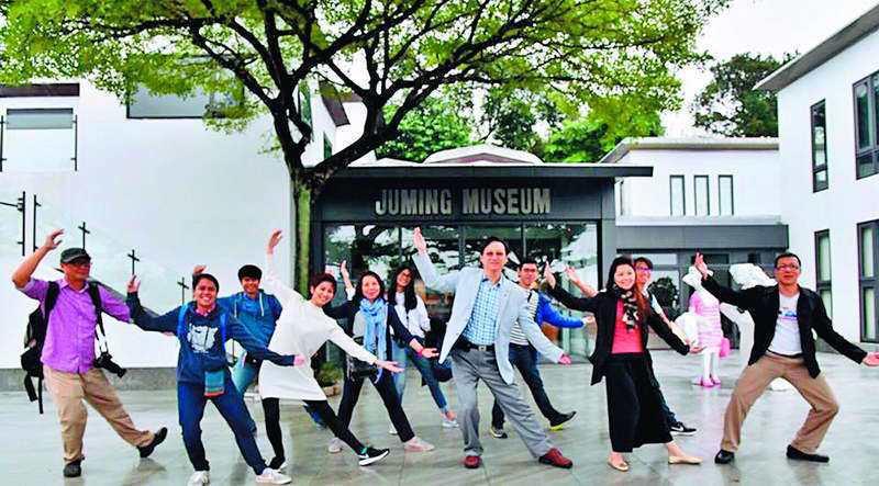 童振源說:「台灣民間的力量,讓泰國社會是有感的。」 翻攝自童振源臉書