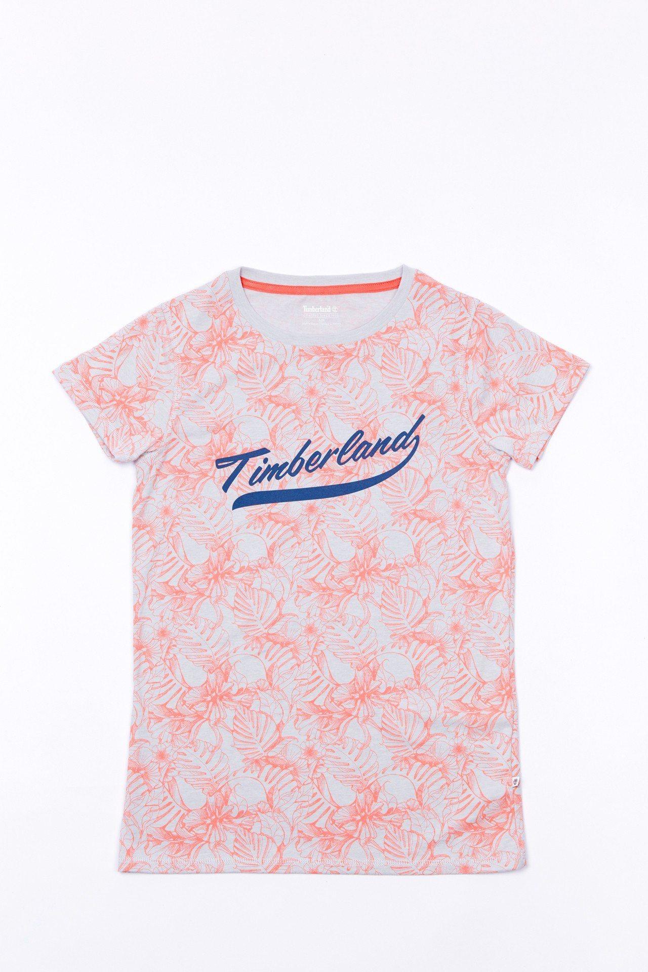Timberland印花經典Logo T恤,約1,500元。圖/Timberla...