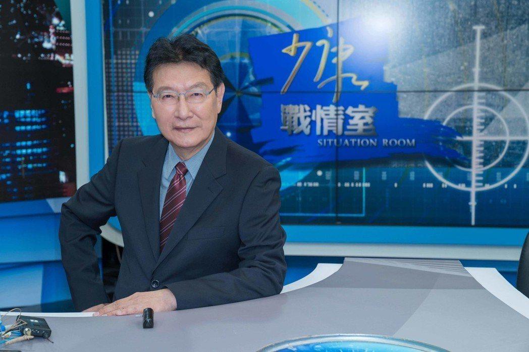 趙少康主持TVBS「少康戰情室」邁入第五年。圖/TVBS提供