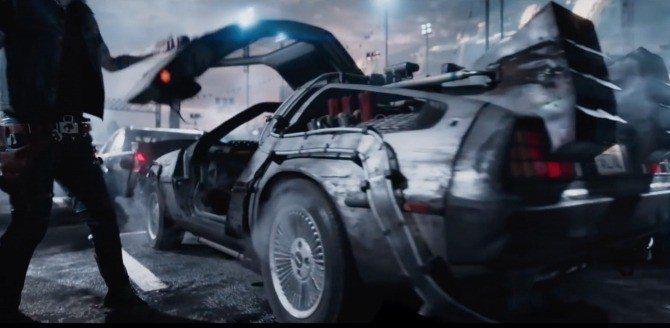 看得出這是「回到未來」中的時光車嗎?圖/摘自Den of Geek