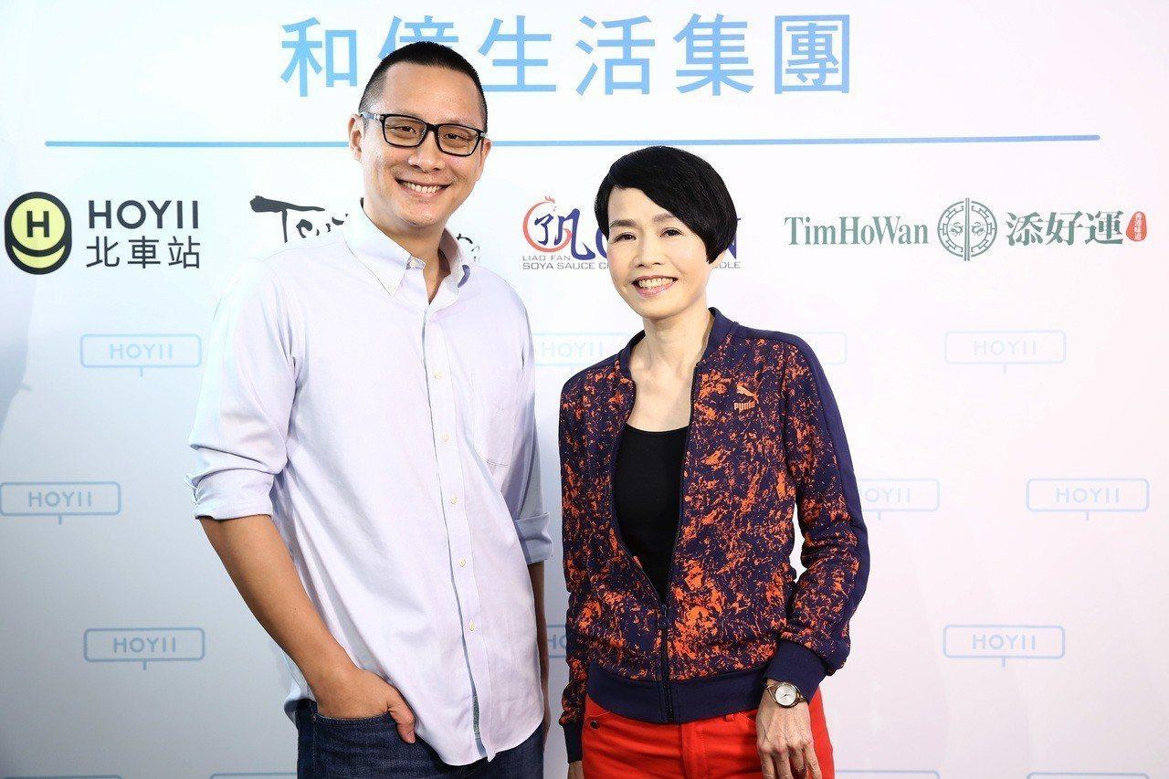 董事長林晉頡(左)正式宣布新任執行長蘇嬉螢(右),加入和億生活集團。圖/和億生活...