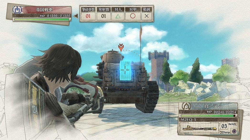 只要瞄準戰車弱點,滿血的戰車也能一炮擊毀。
