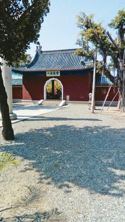台南延平郡王祠。 圖片提供/馬森