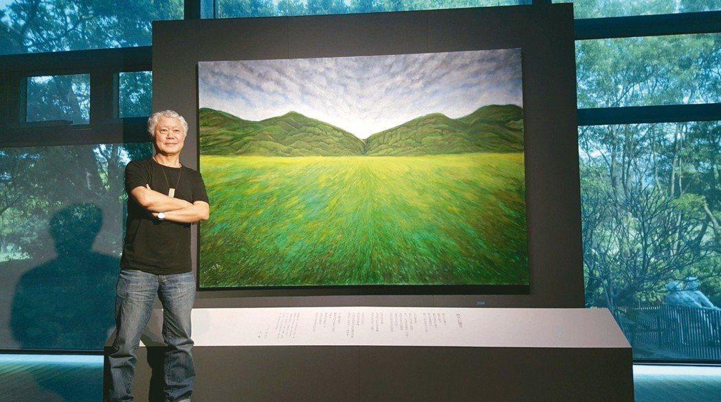 蔣勳油畫作品〈雲淡風輕〉