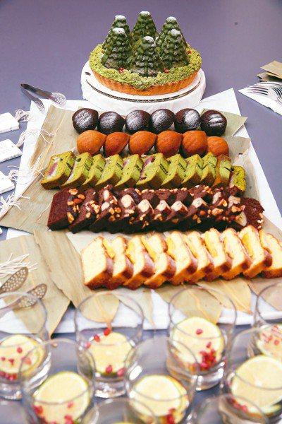 「浮島日式製菓」的伊森與蛋頭,以樹葉作為餐盤,兼顧環境與美感,令人眼睛一亮。 記...