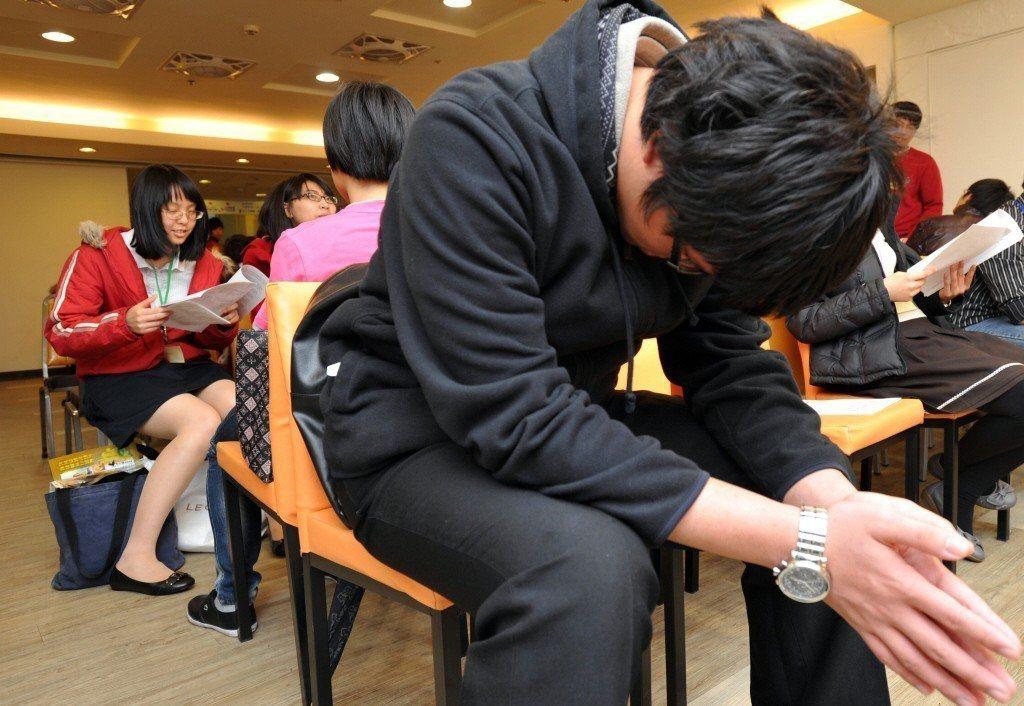 學生參與模擬面試仍不減緊張。示意圖。 圖/聯合報系資料照