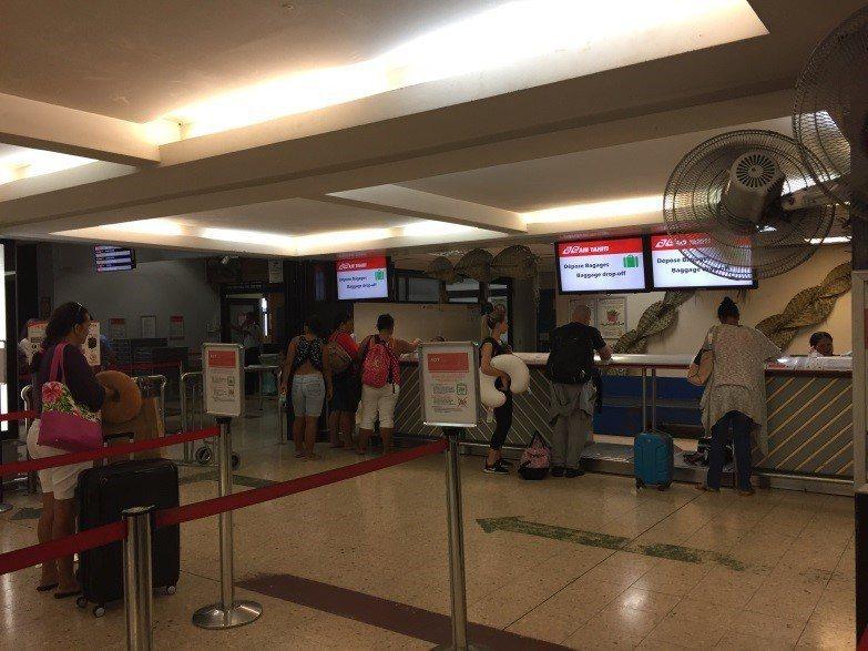 Air Tahiti報到櫃台。圖文來自於:TripPlus