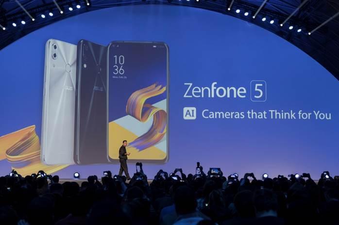 圖四、華碩於2018 MWC發表ZenFone 5系列智慧型手機。 (圖片來源:...