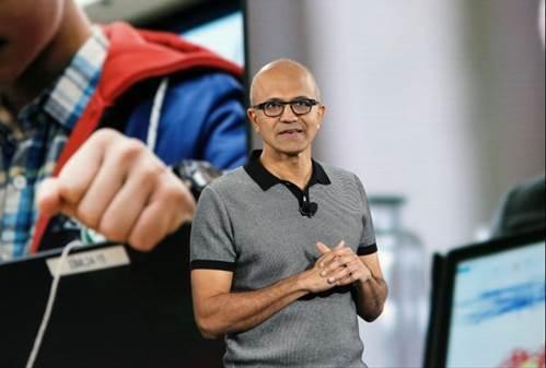 圖1:微軟CEO納德拉帶領微軟走上轉型之路 (資料來源:Microsoft)