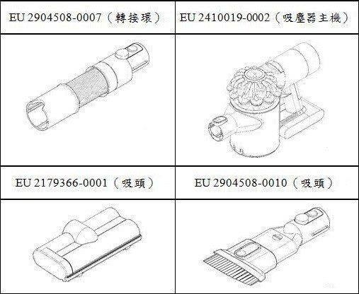 圖4 吸塵器及其零組件之註冊設計保護