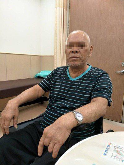 王姓男子罹患肢端肥大症,手大約是正常人的兩倍大 圖/安南醫院提供