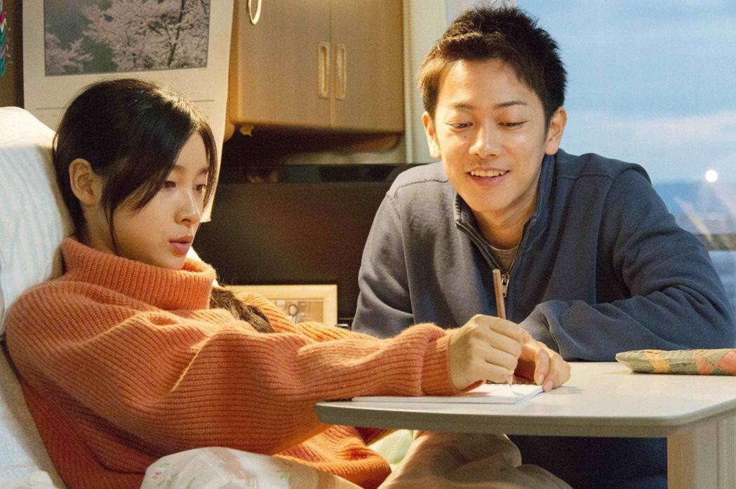 佐藤健(右)在《跨越8年的新娘》細心照顧土屋太鳳(左),感動許多影迷。圖/向洋提...