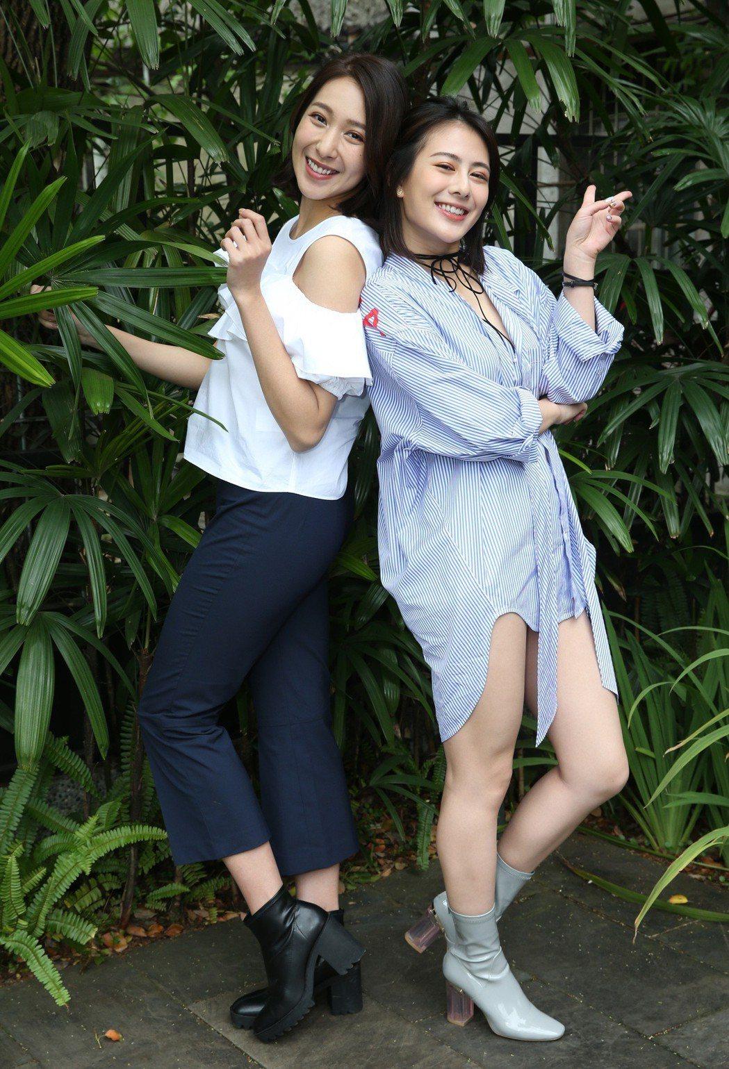 「翻牆的記憶」楊晴(左)、姚亦晴(右)專訪。記者林俊良/攝影