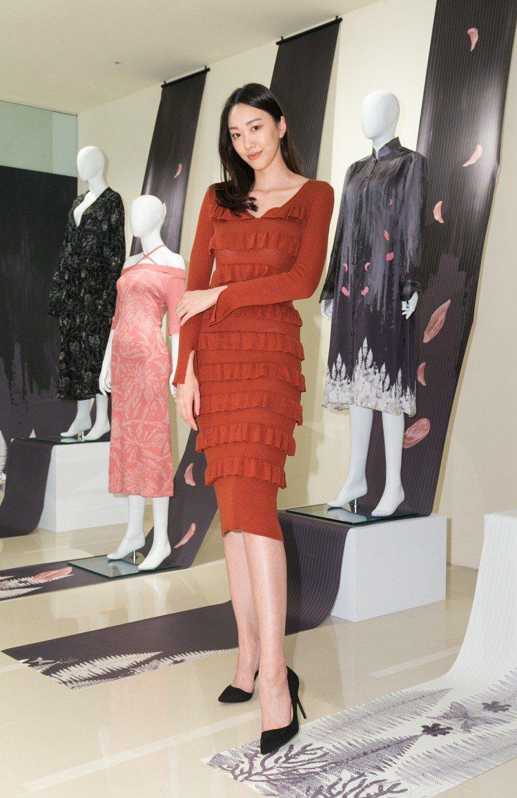 APUJAN春季限定店開幕,名模張敏弘出席。圖/記者陳立凱攝影