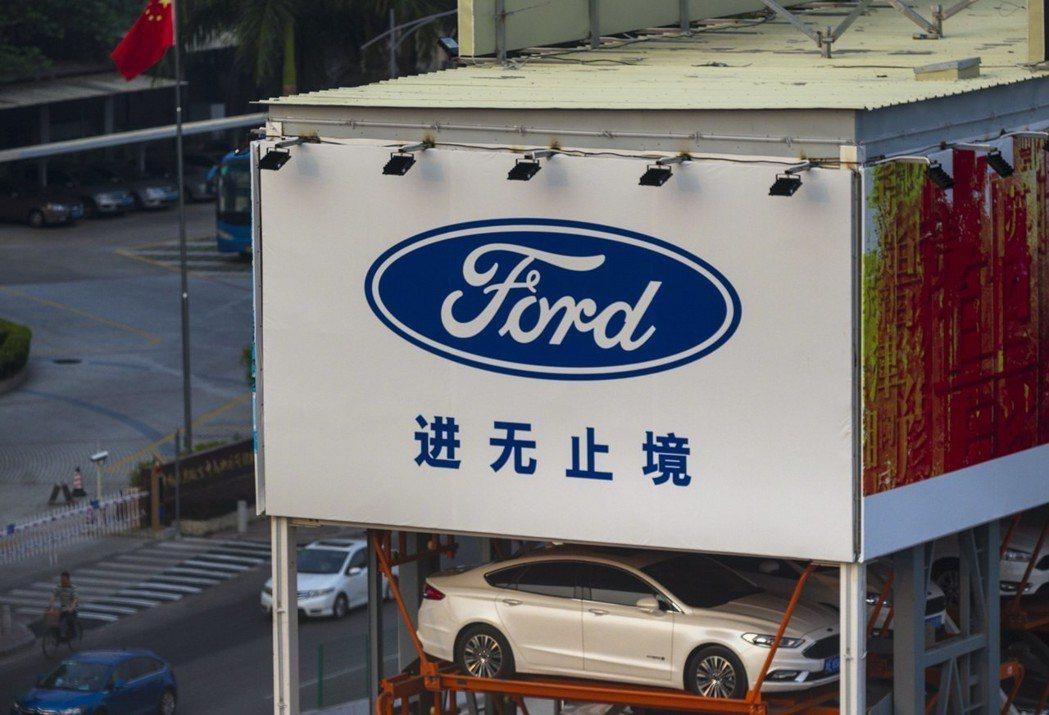 中國電子商務巨頭阿里巴巴集團和美國汽車製造商福特汽車公司本月初在中國廣東省廣州市...
