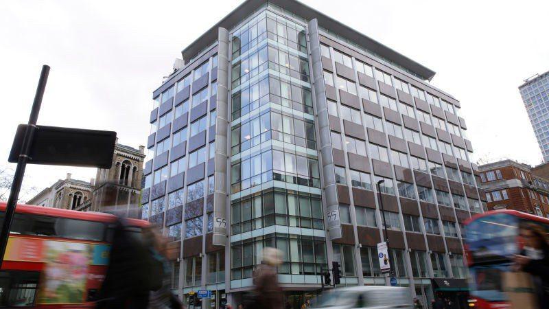 圖為劍橋分析公司位在倫敦的辦公室外觀。 美聯社