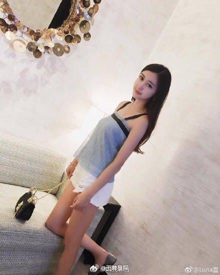 潘瑋柏新歡Luna在照片中看來身材不錯。圖/擷自微博