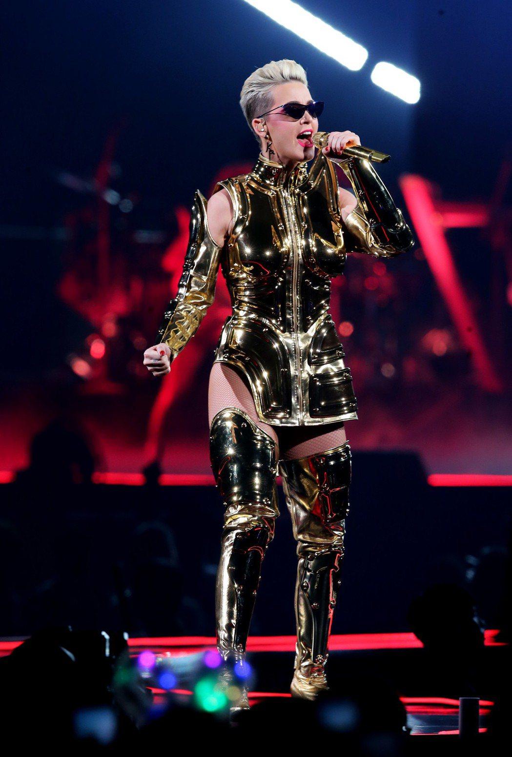 「超級天后」凱蒂佩芮今晚再度登上台北小巨蛋開唱。記者徐兆玄/攝影