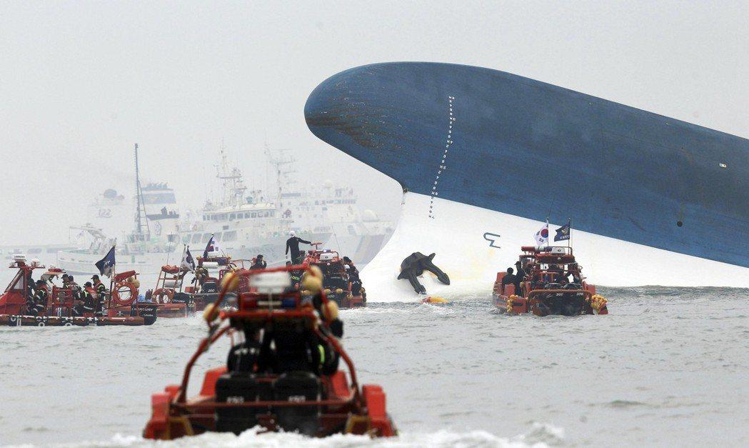 2014年的4月16日,世越號沉船事件震撼全韓國。 圖/路透社