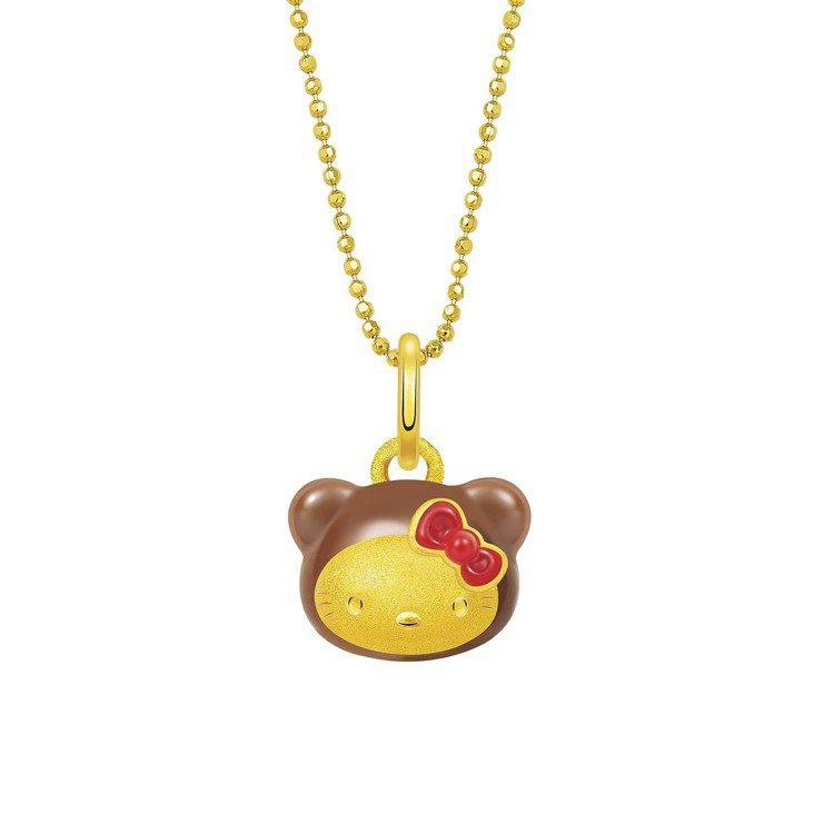 Hello Kitty小熊系列吊墜(不含鍊),8,600元。圖/鎮金店提供