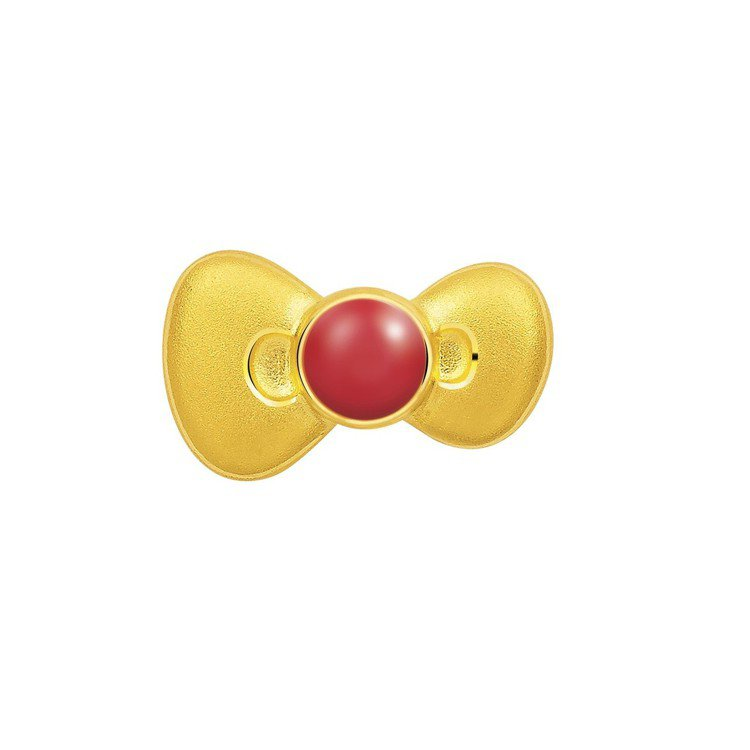 Just Gold x Hello Kitty 經典復刻系列蝴蝶結造型單耳耳環,...