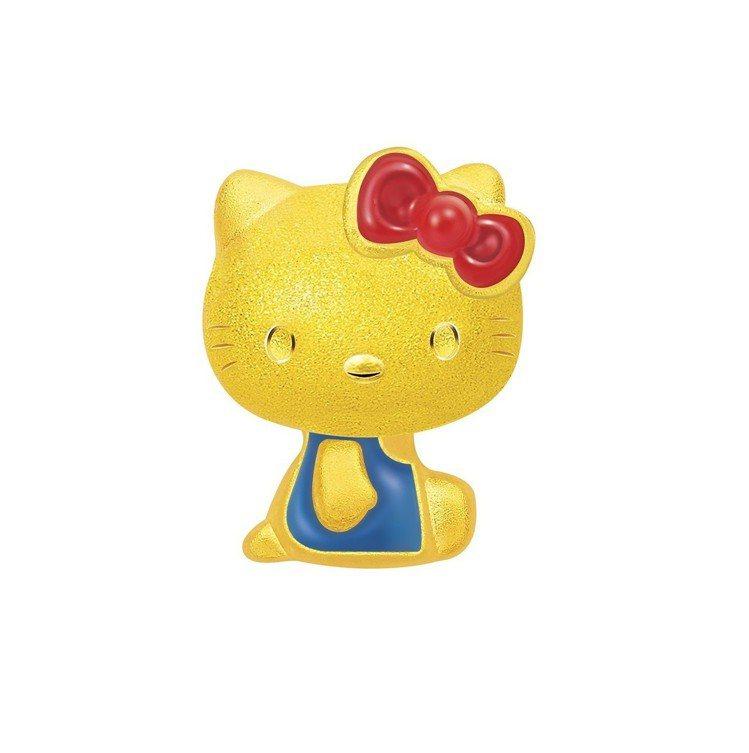經典復刻系列Hello Kitty單耳耳環 ,11,000元。圖/鎮金店提供