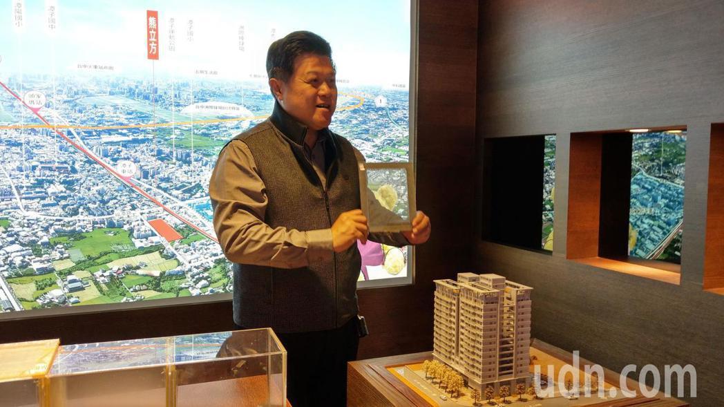 大熊建設「熊立方」大樓建案1、2樓規劃為600坪的生鮮超市旗艦店,住商分離。記者...