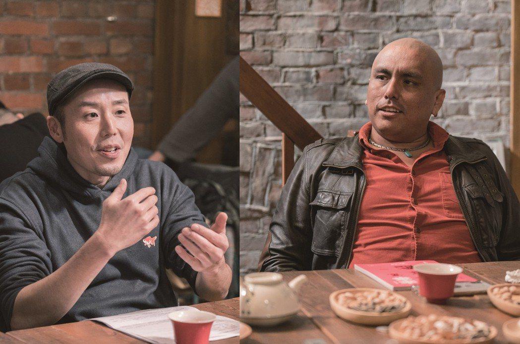 日本的葛西健二(左),在台灣發展演藝事業多年。右為祕魯的Cola,現為ICRT主...