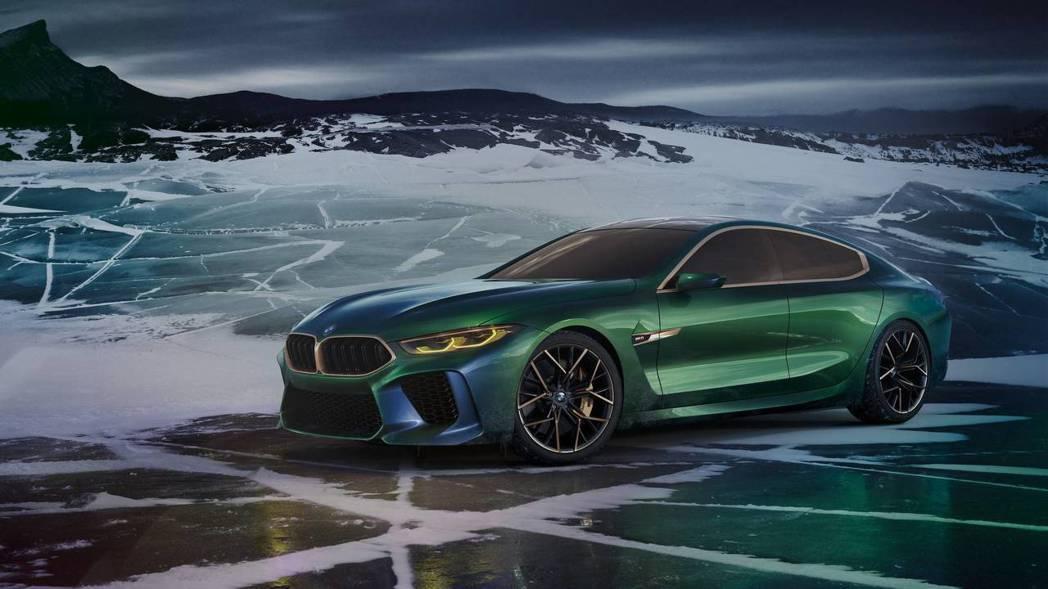 圖為BMW M8 Gran Coupe Concept。 摘自BMW