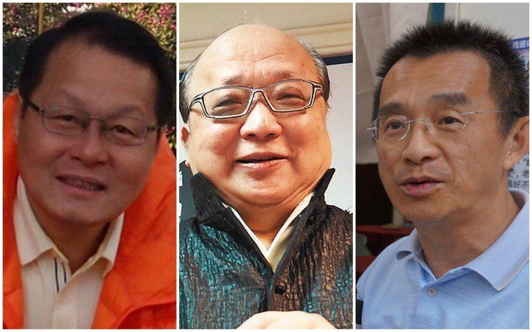 圖由左至右為蕭家淇、胡志強、徐中雄。 圖/聯合報系資料照片
