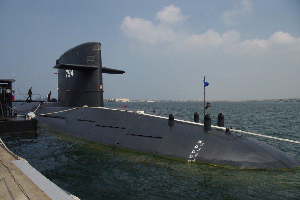 國軍現役的荷蘭製劍龍級潛艦。圖/聯合報系資料照片