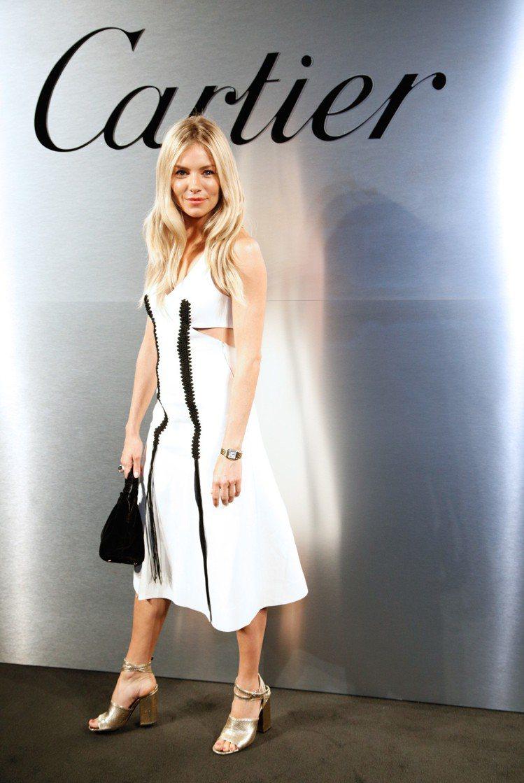 知名英國女星Sienna Miller亦出席派對。圖/卡地亞提供
