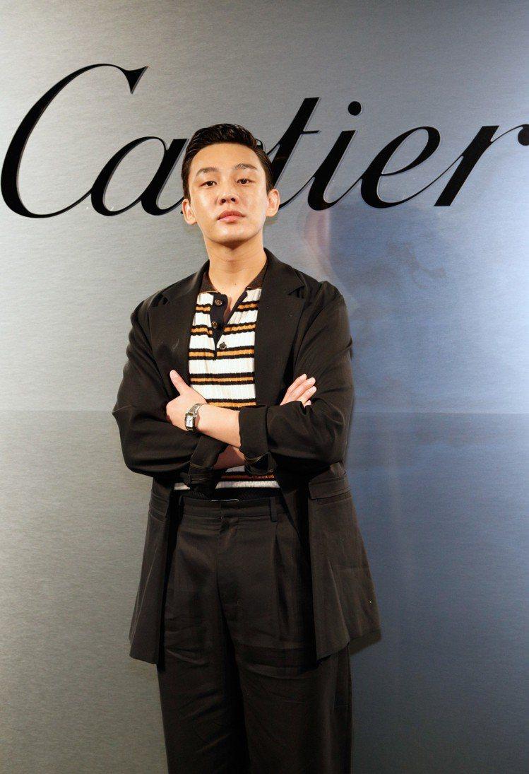 韓國男演員劉亞仁。圖/卡地亞提供