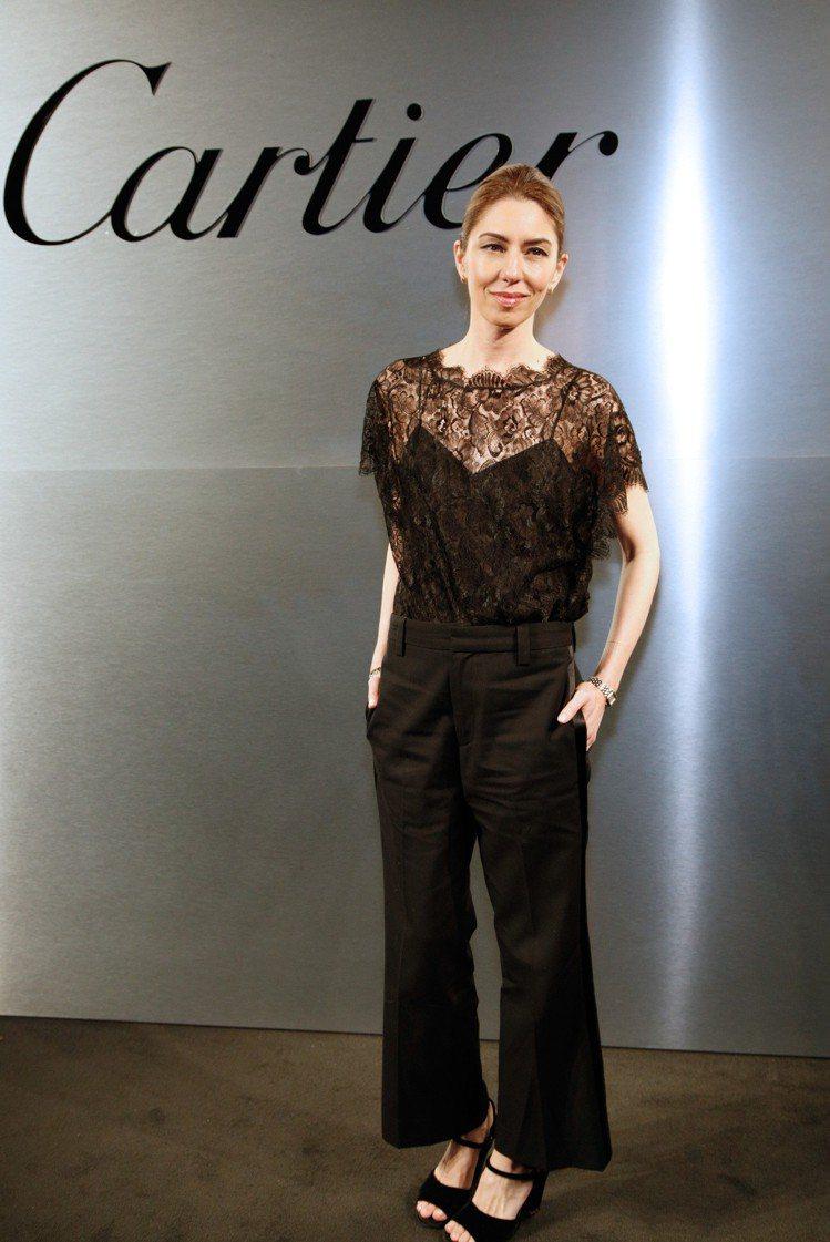 好萊塢知名導演、卡地亞品牌好友蘇非亞科波拉(Sofia Coppola)。圖/卡...